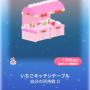 ポケコロスクラッチデリシャスクリスマス(021いちごキッチンテーブル)