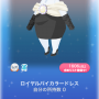 ポケコロスクラッチ祝福♡およばれコーデ(005ロイヤルバイカラードレス)
