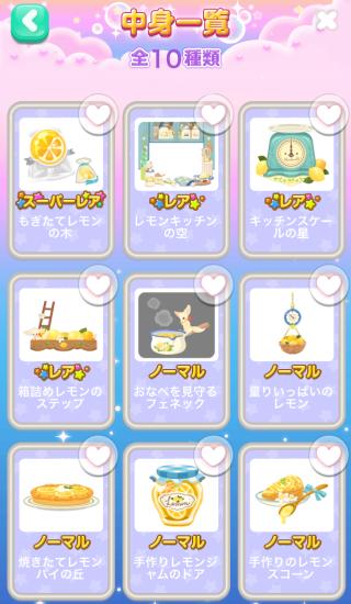 ポケコロガチャわたしのレモンキッチン(コロニー中身一覧1)