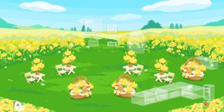 ポケコロガチャ菜の花ピクニック(インテリア見本)