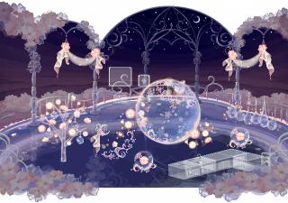ポケコロVIPガチャリュミエールと桜の精(インテリア見本)