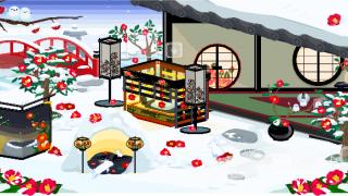 ポケコロガチャ雪椿の隠れ庭(インテリア見本)
