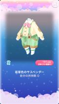 ポケコロガチャいっぱいうさぎ(015【ファッション】若草色のサスペンダー)