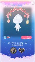 ポケコロガチャ子猫モモとひみつのレシピ(ファッション&小物009ピーチキトゥンフレーム)