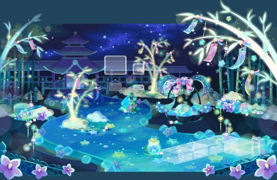 ポケコロガチャ織姫と星渡りの夜(インテリア見本)