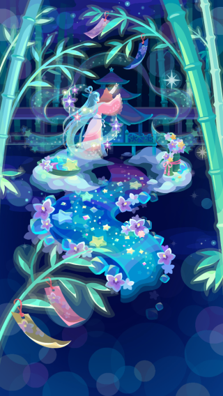 ポケコロガチャ織姫と星渡りの夜(コロニー見本)