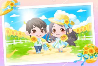 ポケコロイベントひまわり畑をかける夏(完成した写真)